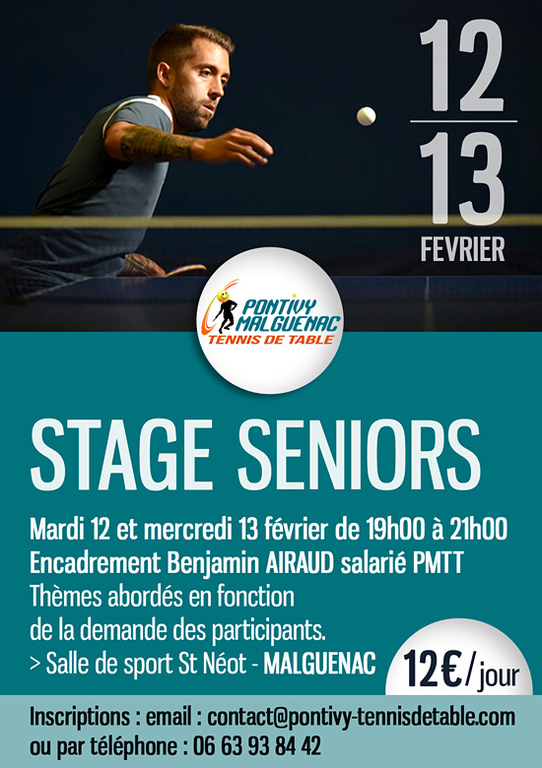 142f6b1400a53 Pontivy - Malguénac Tennis de table