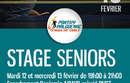 STAGE SENIORS | 12 & 13 FEVRIER